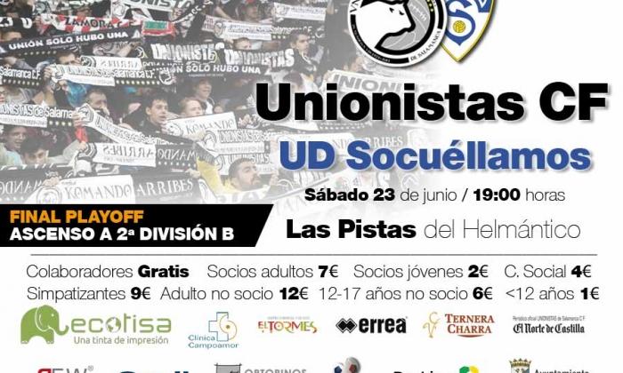 Unionistas CF - UD Socuéllamos | Información sobre la adquisición de entradas