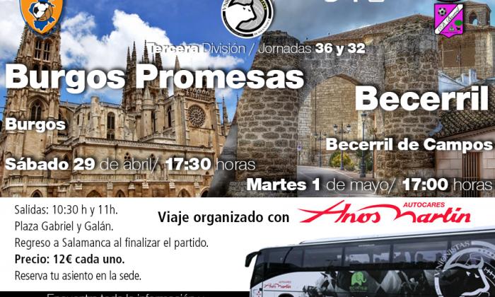 VIAJE | Desplazamientos a Burgos y a Becerril (28 de abril y 1 de mayo)
