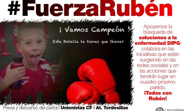 SOCIAL | Unionistas CF se vuelca con Rubén