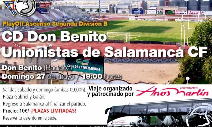 Viajes organizados a Don Benito (sábado 26 y domingo 27)