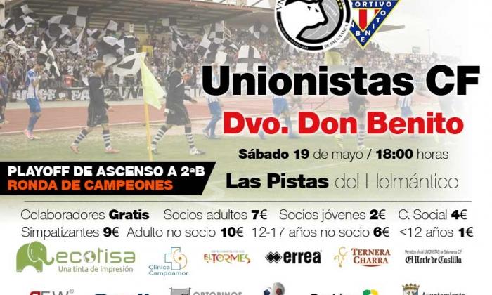 Unionistas CF - CD Don Benito | Información sobre adquisición de entradas