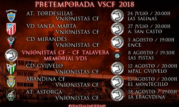 PRETEMPORADA | Unionistas CF disputará siete partidos amistosos de preparación