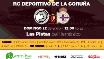 Información sobre el partido de Copa ante el RC Deportivo