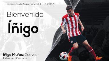 PLANTILLA | Íñigo Muñoz, nuevo jugador de Unionistas de Salamanca