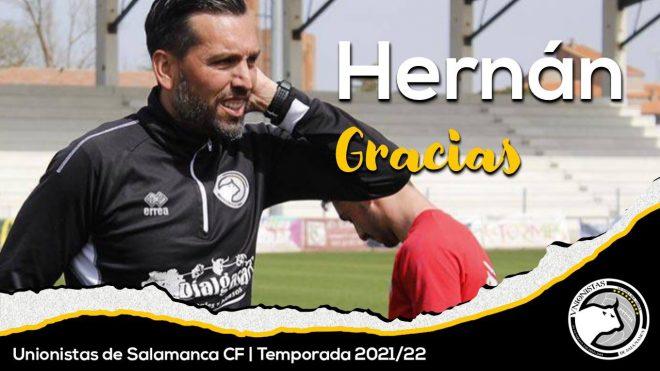 COMUNICADO OFICIAL | Hernán Pérez no continuará como entrenador de Unionistas de Salamanca