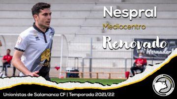 PLANTILLA | Héctor Nespral renueva su compromiso con Unionistas de Salamanca